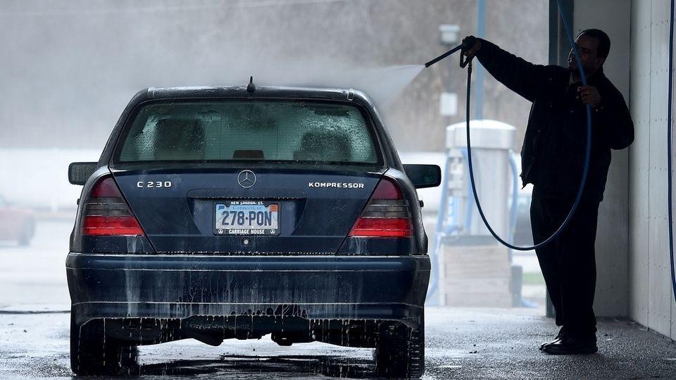Як мити авто в мороз.